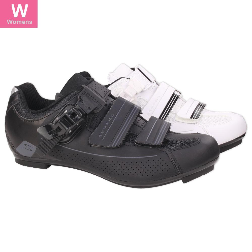 SWR-501B /& SWR-501W Serfas Women/'s Road Bike Leadout Buckle Cycling Shoes