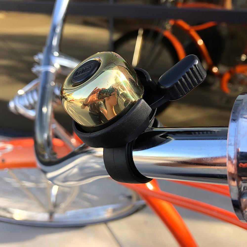 Black Aluminum-Multi Strike Handlebar Bell