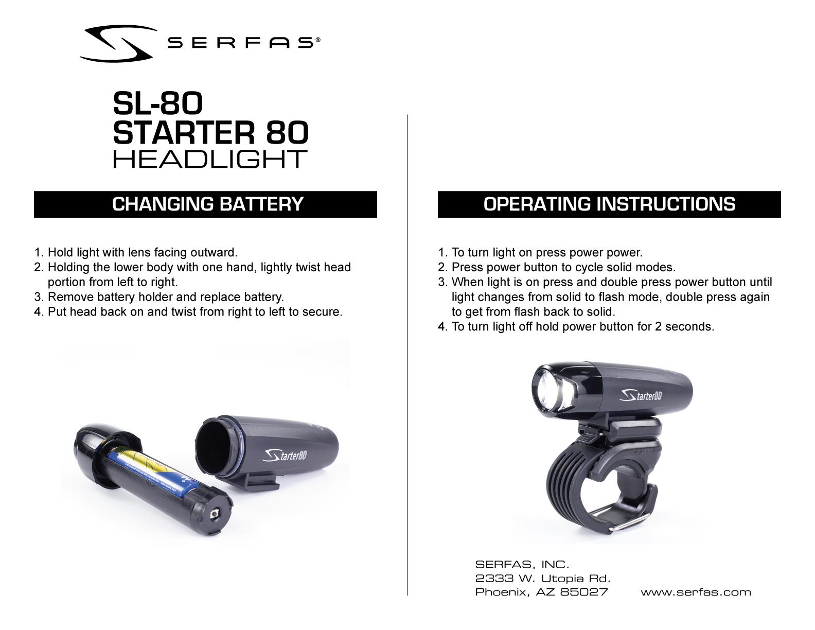 SL-80 Starter 80 Headlight