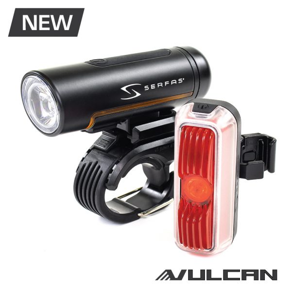 Serfas Apollo USB Combo Bicyle Light Kit