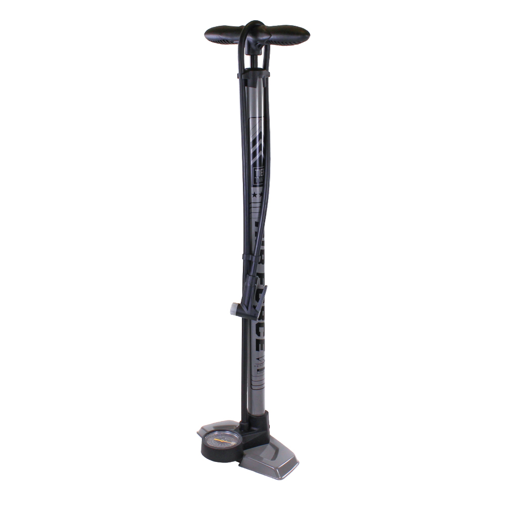 Serfas FP-T2 Air Force Tier Two Bicycle Floor Pump Grey